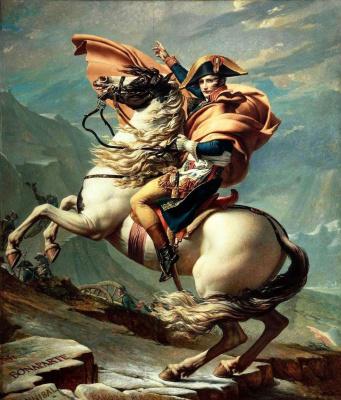 Jacques-Louis David. Napoleon at the pass Saint-Bernard III