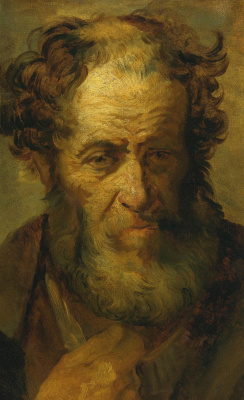 Théodore Géricault. Portrait of a bearded man (after Rembrandt)