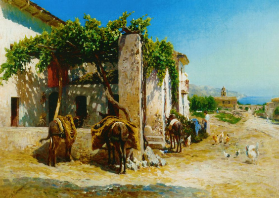 Vasily Vasilyevich Vereshchagin. The Italian village on the sea shore