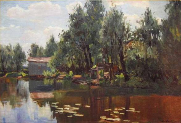 Manuil Khristoforovich Aladzhalov Russia 1862 - 1934. Pond. 1900-1910