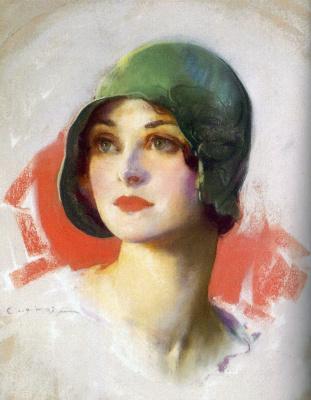 Гай Хофф. Дама в зеленой шляпке