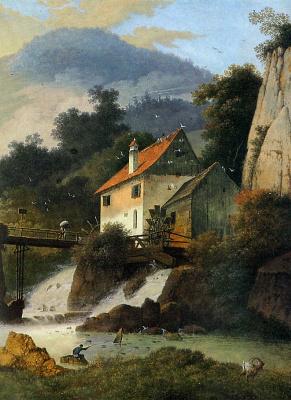 Маттьюз Книп. Водяная мельница в Мартине Рош