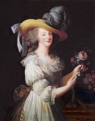 Elizabeth Vigee Le Brun. Queen Marie-Antoinette in a muslin dress