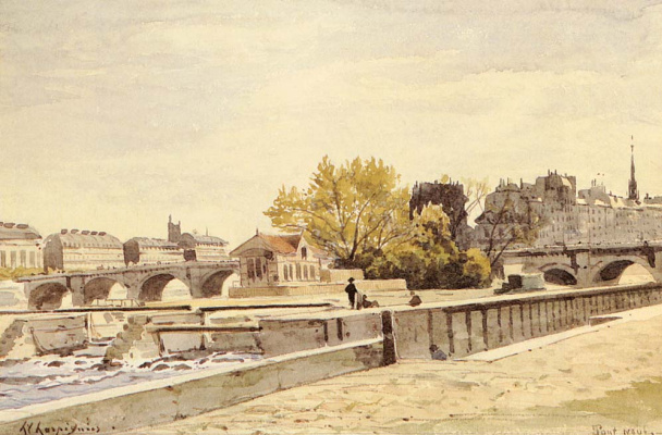 Анри-Жозеф Харпигниес. Новый мост в Париже