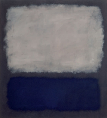 Rothko Mark. Untitled (White, blue, gray)