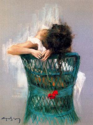 Каэтано де Аркер Буигас. Красный цветок в руках