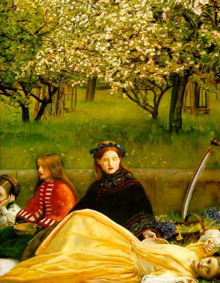 Джон Эверетт Милле. Цветущие яблони (Весна). Фрагмент