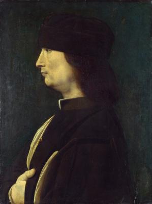 Джованни Антонио Болтраффио. Человек в профиль