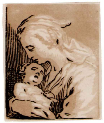 Abraham Bloomart. The Madonna and child