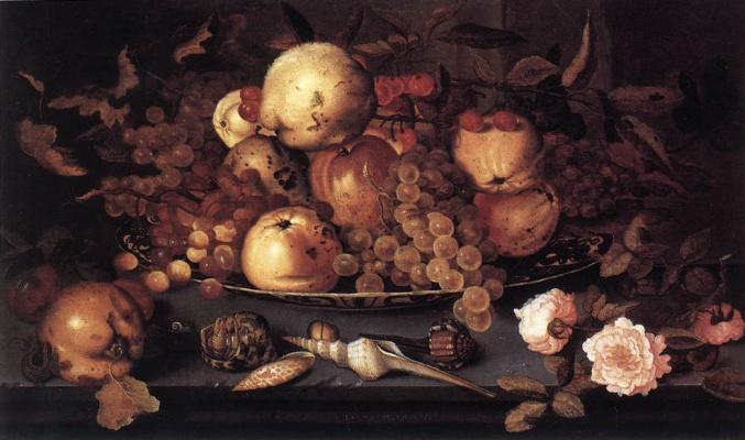 Бальтазар ван дер Аст. Натюрморт с блюдом фруктов