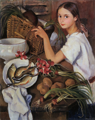 Зинаида Евгеньевна Серебрякова. Тата с овощами