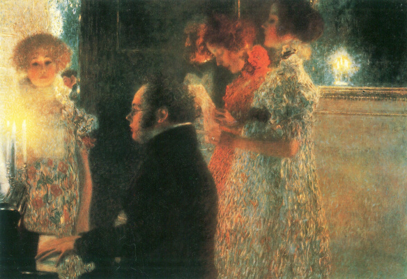 Gustav Klimt. Schubert at the piano