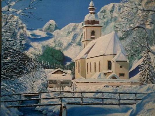 Вадим Маслов. Церковь в горах