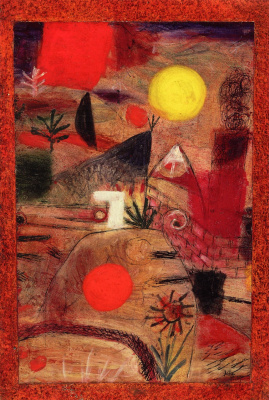 Paul Klee. Ceremony and sunset