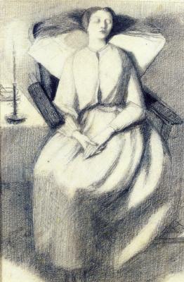 Dante Gabriel Rossetti. Elizabeth Siddal in a chair