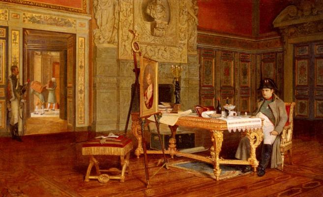 Гюстав Беттингер. Наполеон созерцает портрет короля Рима до его отъезда