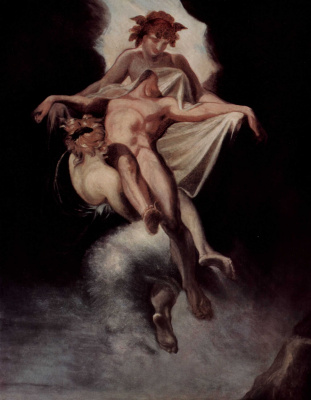 Johann Heinrich Fuessli. Sleep and Death carry the body of Sarpedon, who died under the Lycia