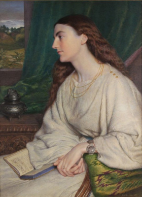 Frederick William Burton. Portrait of Mary Pelliezer