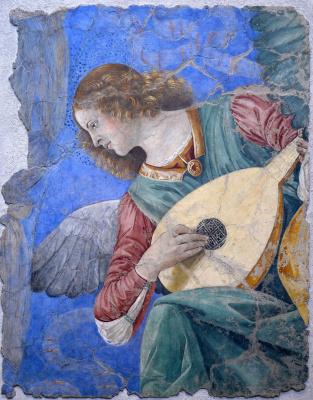 Melozzo da Forlì. Angel playing music