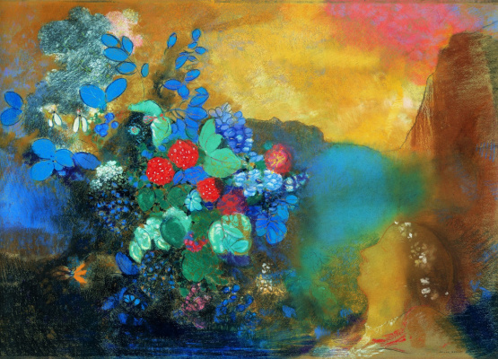 Odilon Redon. Ophelia among the flowers