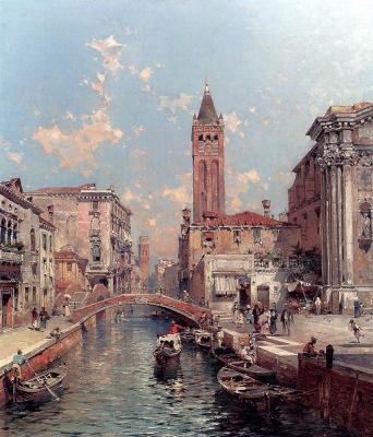 Franz Richard Unterberger. Rio Santa Barnaba, Venice