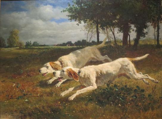 Констан Тройон. Бегущие собаки.