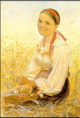 Anders Zorn. The girl in the field