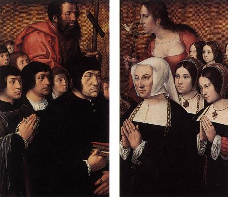 Бернард ван Орлей. Триптих Ханетона. Левая и правая часть