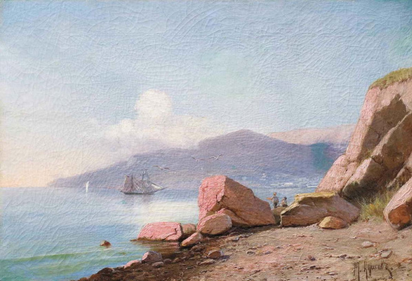 Mikhail Alexandrovich Alisov. Crimean landscape. Ayu-Dag
