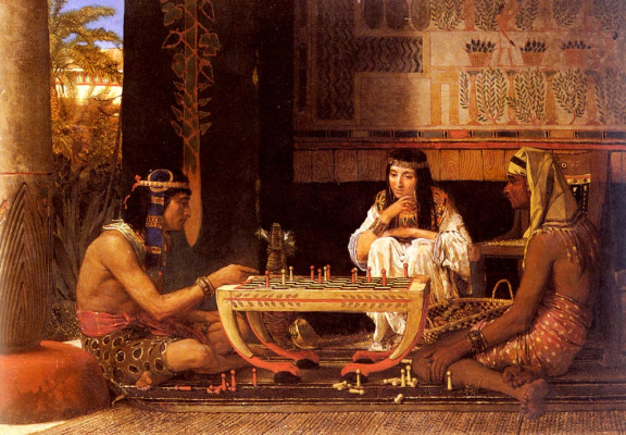 Lawrence Alma-Tadema. Egyptian chess players