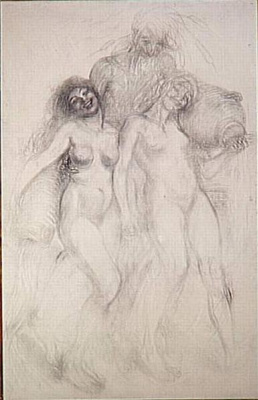 Theophile-Alexander Steinlen. Allegory of the river Grand Morin. Sketch