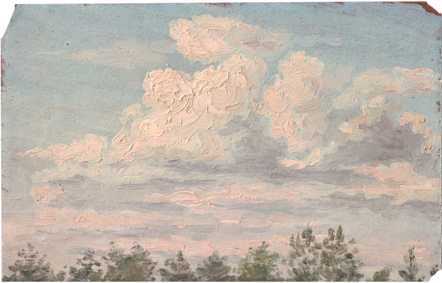 Arkady Pavlovich Laptev. Clouds over the grove