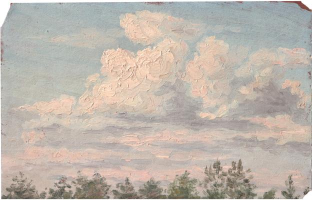 Аркадий Павлович Лаптев. Облака над рощей