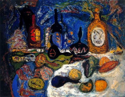 Arturo Souto. Still life with bottles