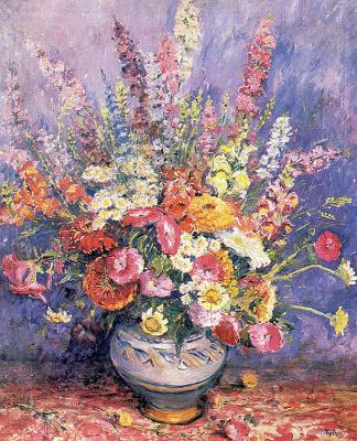 Макс Куехн. Нежные цветы в вазе