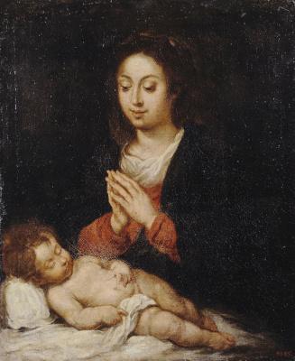 Херонимо де Бобадилья. Мадонна со спящим младенцем Христом