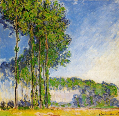 Claude Monet. Poplars, view from the marshes