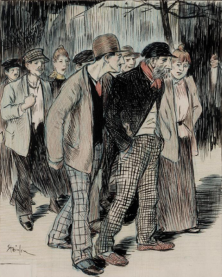 "Theophile-Alexander Steinlen. Illustration for the article ""Ginger"" Rene Miseria"