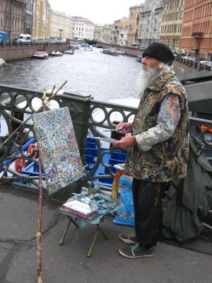 """Alexey Grishankov (Alegri). """"Painter on the bridge"""""""