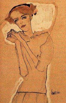 Egon Schiele. Portrait of a girl