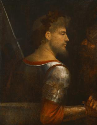 Giorgione. Portrait of a warrior