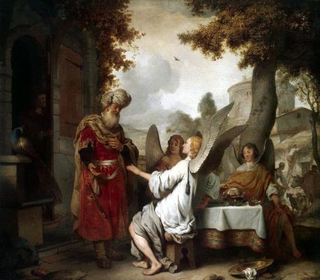 Гербранд Янс ван ден Экхаут. Авраам и три ангела