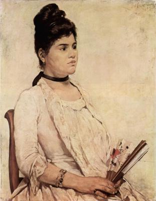 Giovanni Fattori. Portrait of the stepdaughter