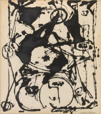 Jackson Pollock. Black and white painting II