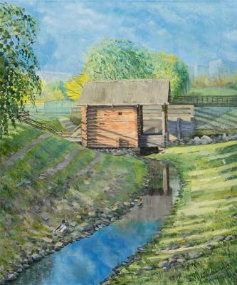 Olesya Rapotkin. Водяная мельница на реке Жуже в Коломенском