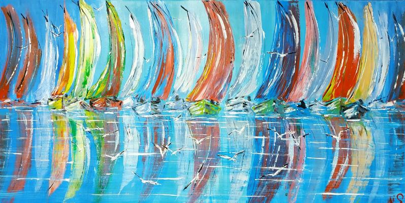 Irina Stukaneva. Rainbow regatta. Big family.
