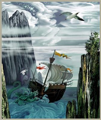 Konstantin Avdeev. Sailboat Ghost