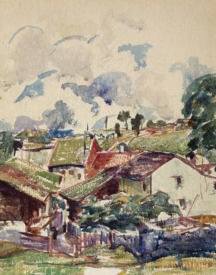 Giovanni Giacometti. Village in the mountains