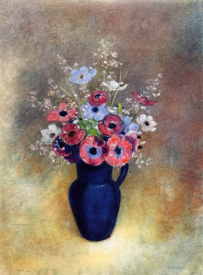 Odilon Redon. Anemones in a jug