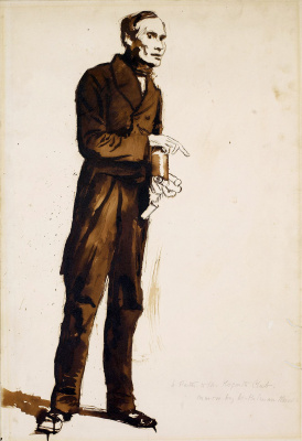 William Holman Hunt. The porter at the club Hogarth